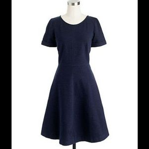 J Crew Navy Blue Ponte Mini Dress